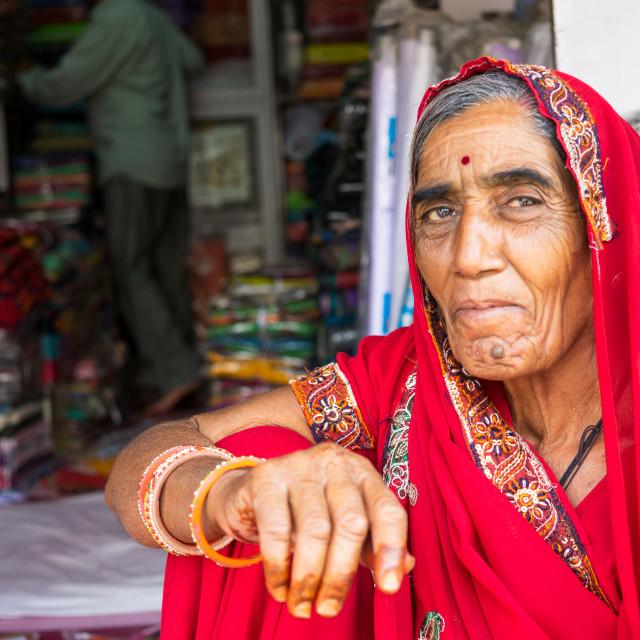 """Rajasthani Indian Woman"" stock image"