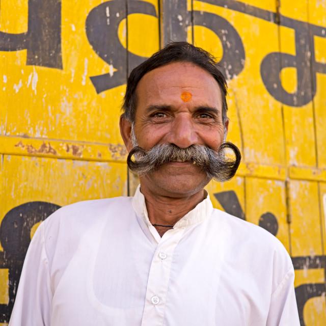 """""""Rajasthani Indian Man"""" stock image"""