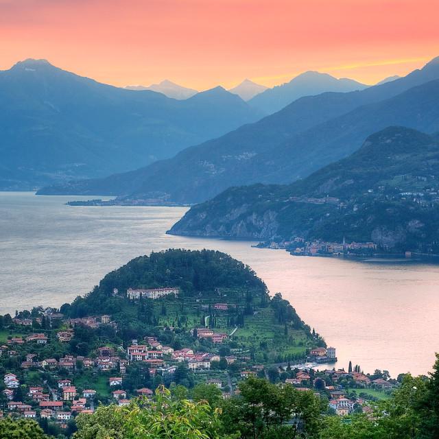"""Lake Como in Italy"" stock image"