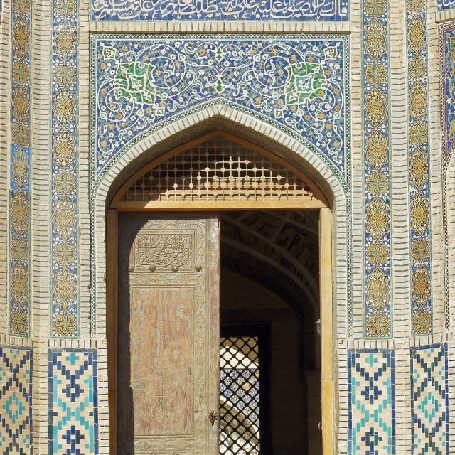 """Bukhara, Uzbekistan, Central Asia"" stock image"