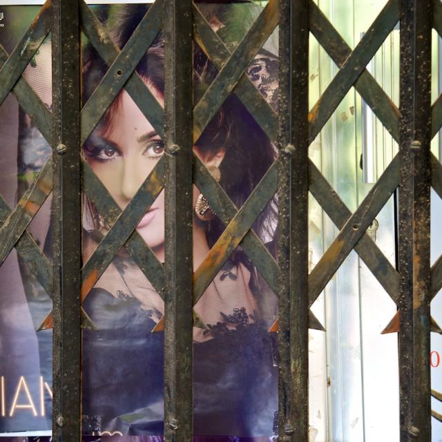 """Movie Poster, Oman"" stock image"