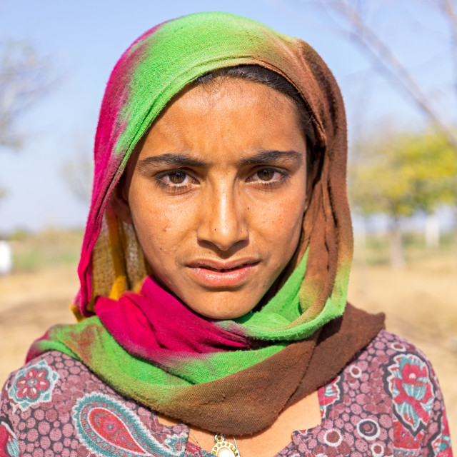 """Portrait of a young Indian girl"" stock image"