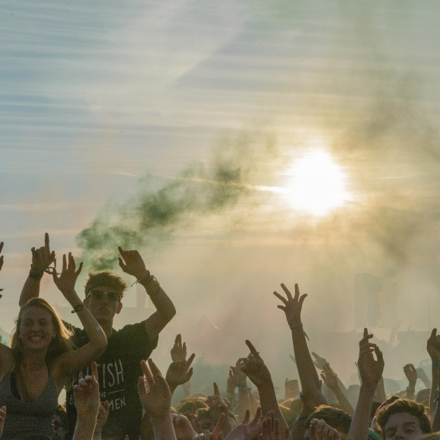 """Festival Crowd"" stock image"