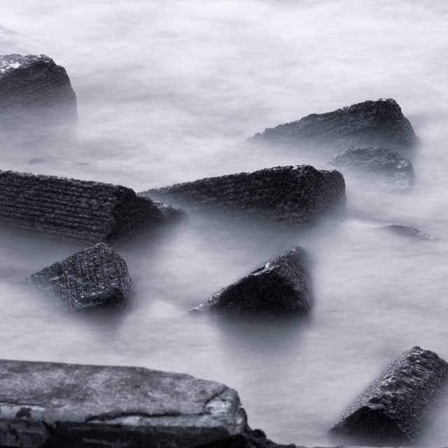 """Rocks and long exposure photo"" stock image"