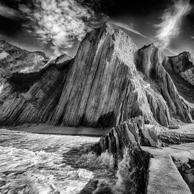 """Flysch Zumaia Basque Country Spain"" stock image"