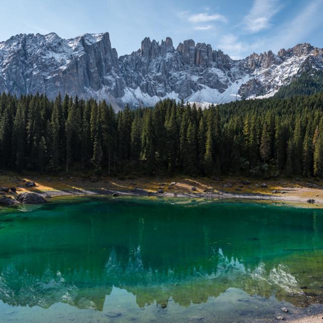 """""""Lago di Carezza"""" stock image"""