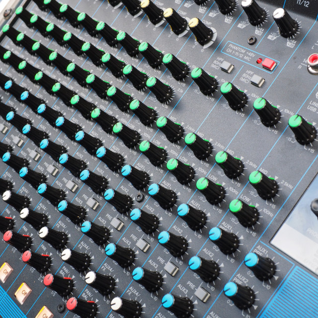 """""""Mixing console"""" stock image"""
