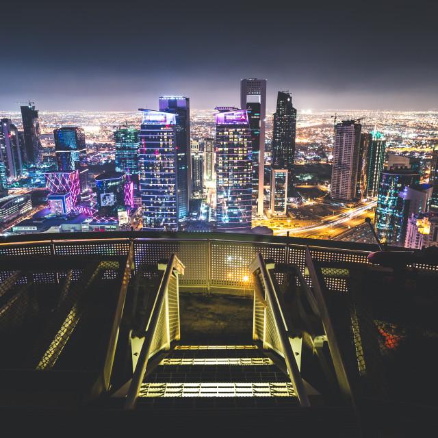 """""""Doha Rooftop."""" stock image"""