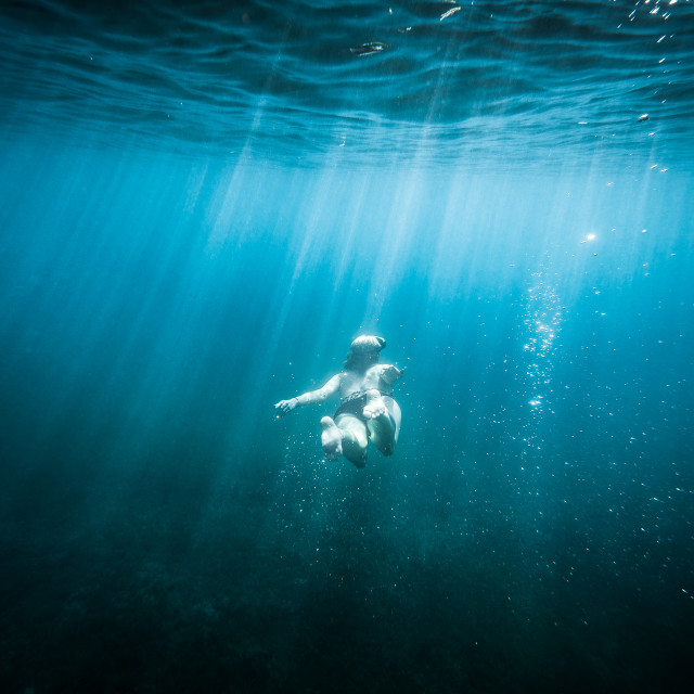 """Underwater Swimming"" stock image"