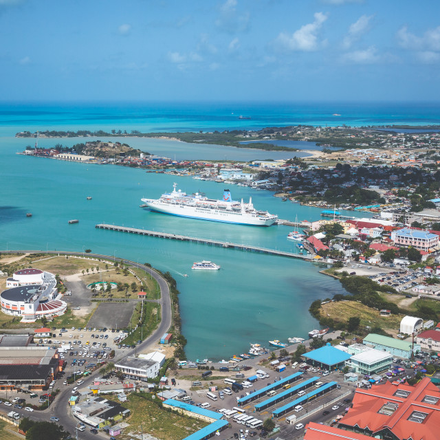 """Antigua from the Air."" stock image"