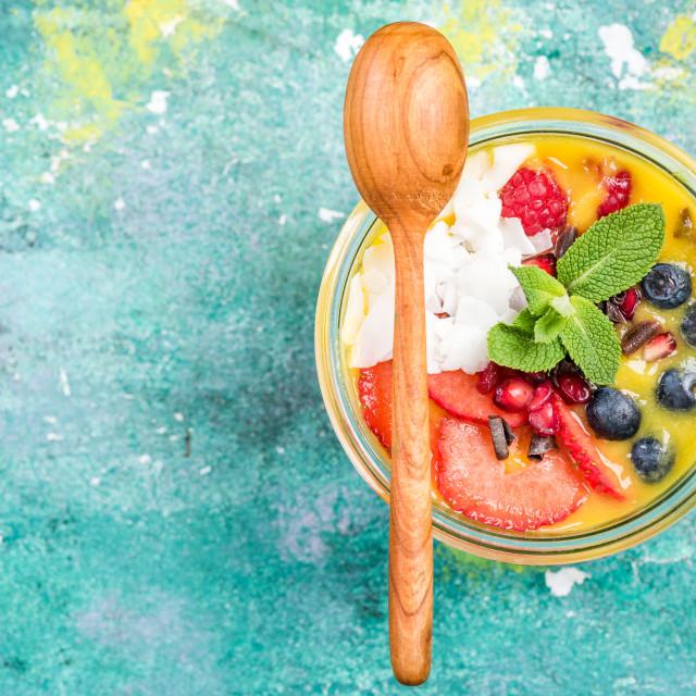 """Healthy breakfast concept"" stock image"