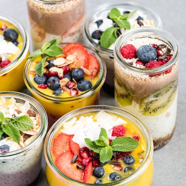 """""""Selection of super healthy food in jars"""" stock image"""