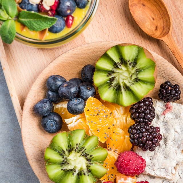 """Best strart of day, super breakfast"" stock image"