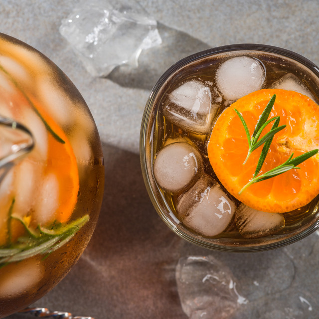 """""""Refreshing ice cold tea, close up"""" stock image"""