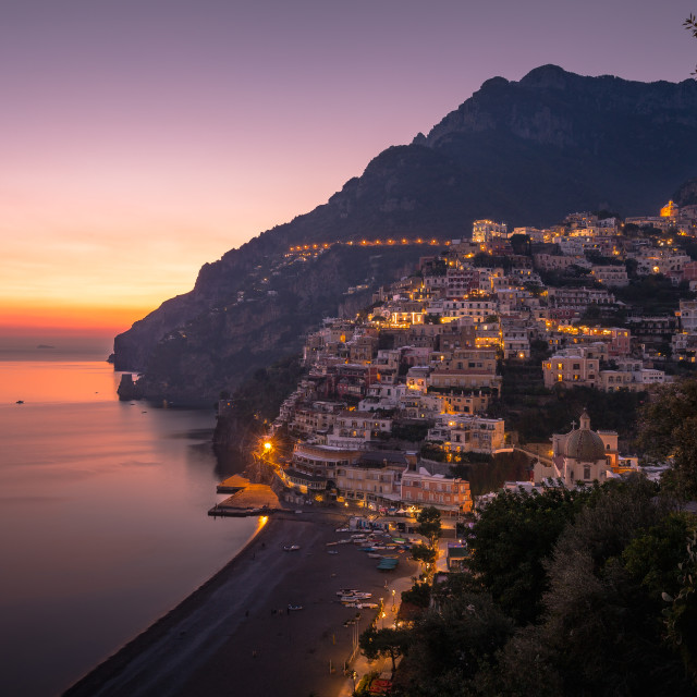 """Positano Sunset."" stock image"