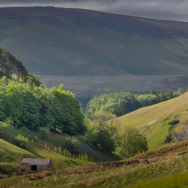 """Bowland Fells"" stock image"