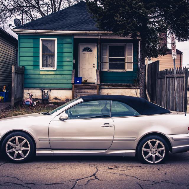 """Flat Mercedes"" stock image"