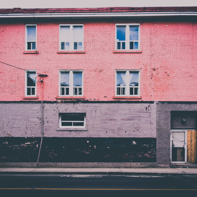"""""""Pink Building"""" stock image"""