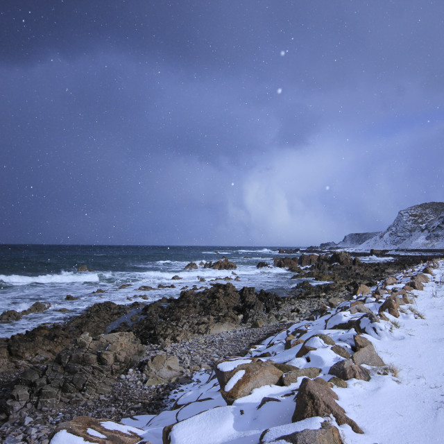"""Snow flakes at the seaside"" stock image"