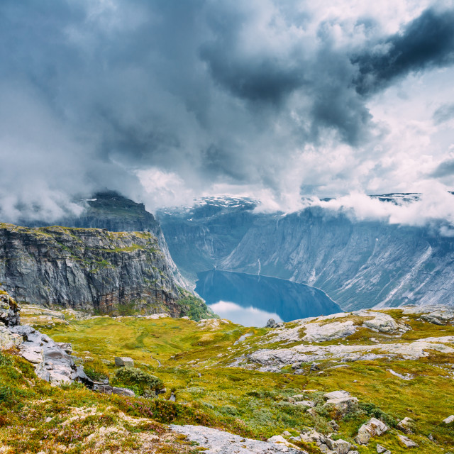 """Mountains Landscape in Norway. Scandinavia."" stock image"