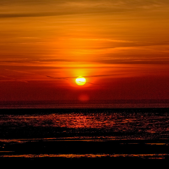 """""""Sunset over Sand Bay"""" stock image"""