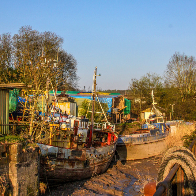 """""""Boats in Dry Dock"""" stock image"""