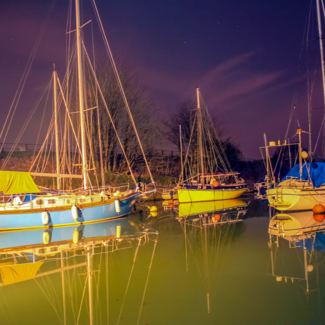 """Boats at Lydney Harbour"" stock image"