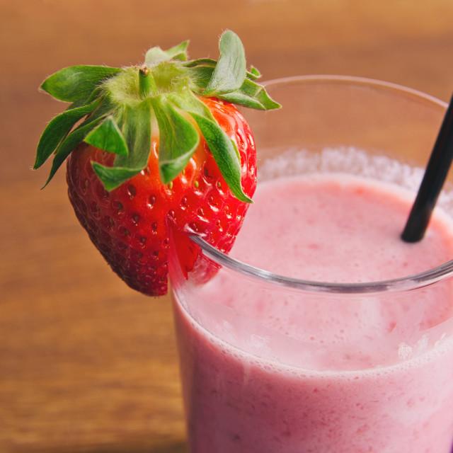 """Strawberry Milk Shake"" stock image"