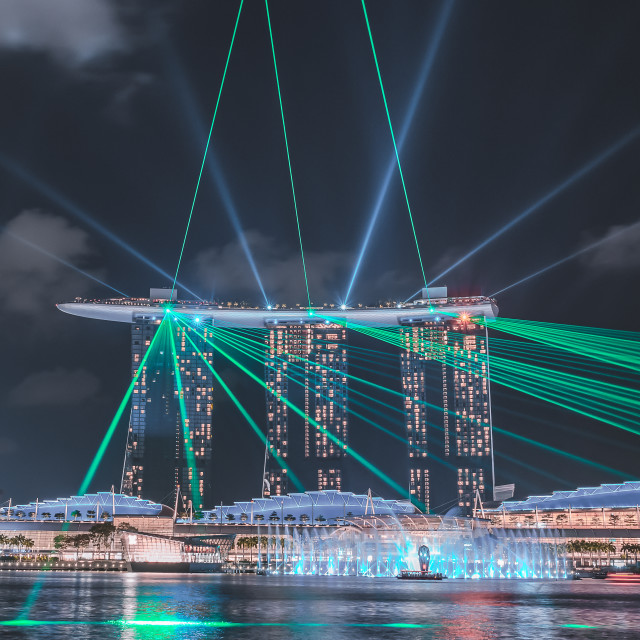 """""""Laser Show of MBS"""" stock image"""