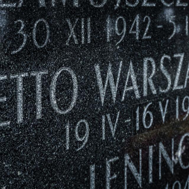 """Warsaw Ghetto"" stock image"