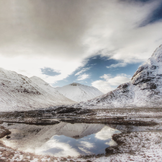 """Scottish scenery in mid winter"" stock image"