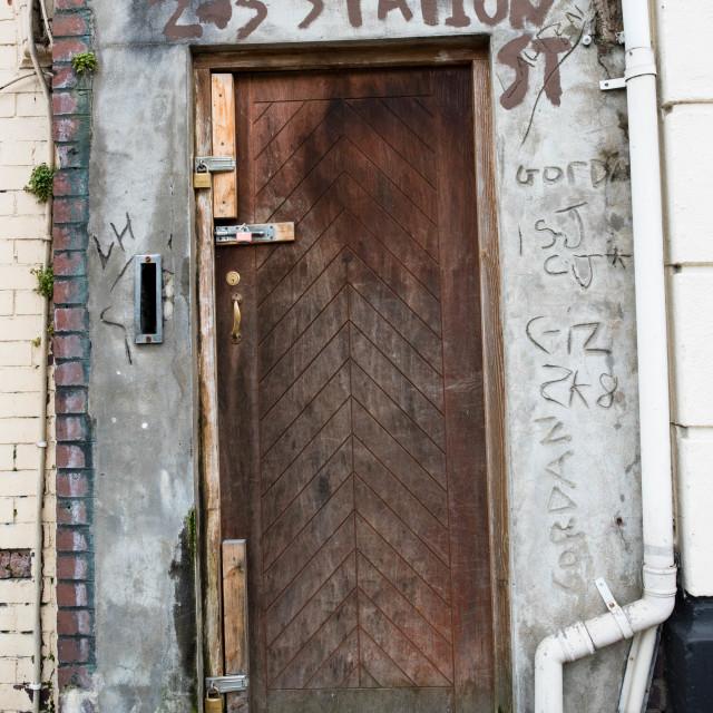 """""""Decrepit Doorway"""" stock image"""