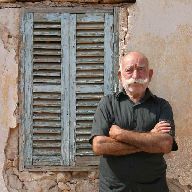 """Elderly Cypriot Man 1"" stock image"