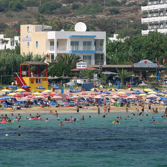 """Ayia Napa Beach Cyprus"" stock image"