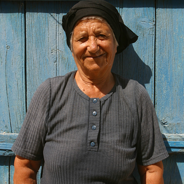 """Elderly Cypriot Woman 2"" stock image"