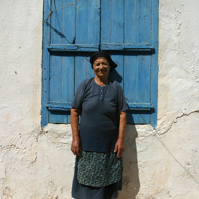 """Elderly Cypriot Woman 1"" stock image"