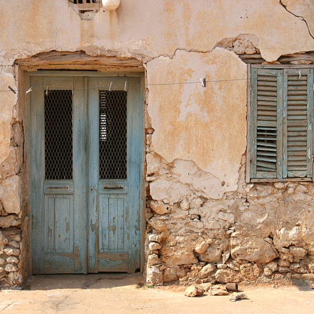 """Exterior of Old House in Cyprus"" stock image"