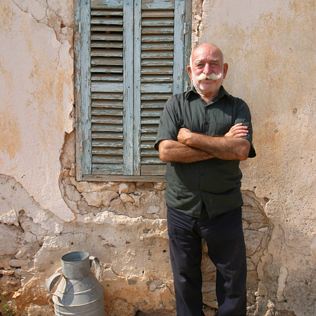 """Elderly Cypriot Man 2"" stock image"