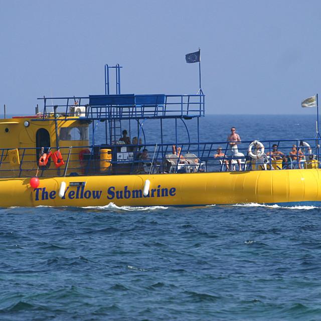 """""""The Yellow Submarine"""" stock image"""