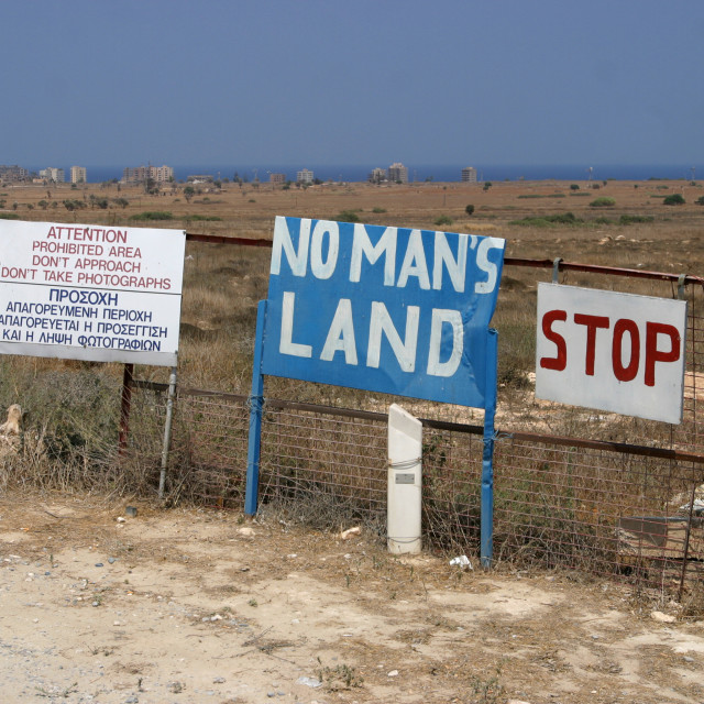 """No Mans Land Famagusta Cyprus"" stock image"
