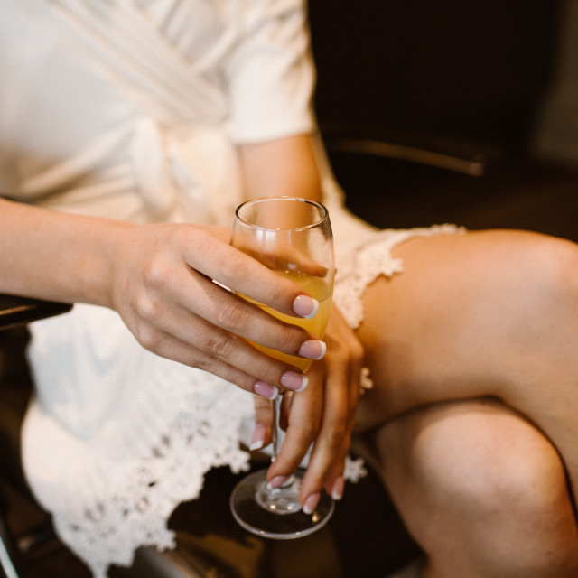 """""""Bride with a Mimosa"""" stock image"""