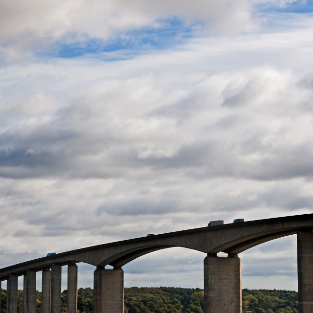 """Motorway Bridge in the UK"" stock image"