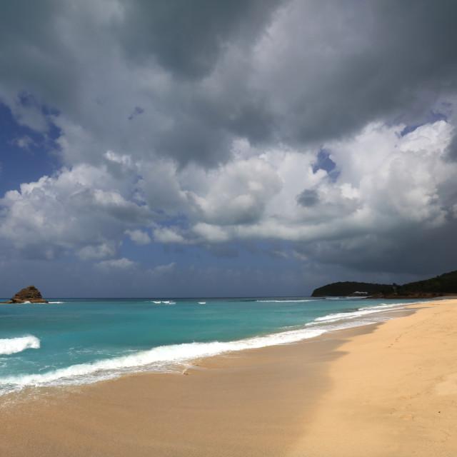 """Eden Beach, Hawksbill, Antigua"" stock image"