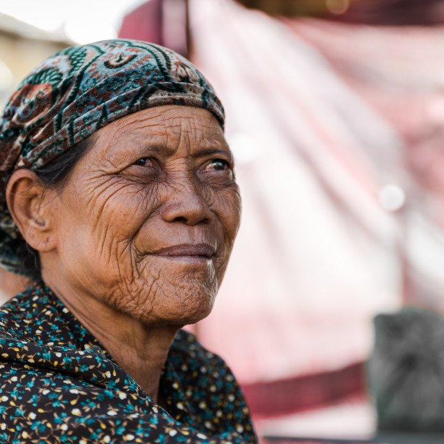 """Portrait of a Cham woman"" stock image"