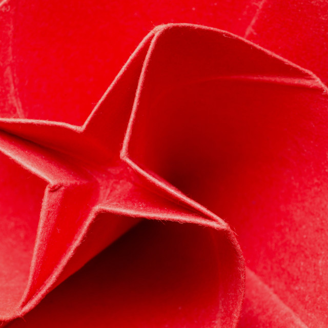 """Stylized paper origami rose flower"" stock image"
