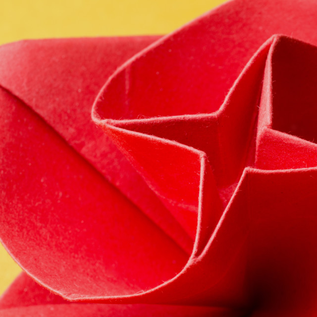 """Spiral shaped paper origami rose"" stock image"