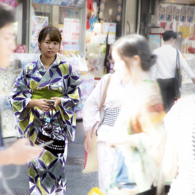 """""""Green Kimono"""" stock image"""