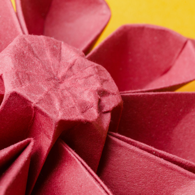 """Red paper origami gerbera flower"" stock image"
