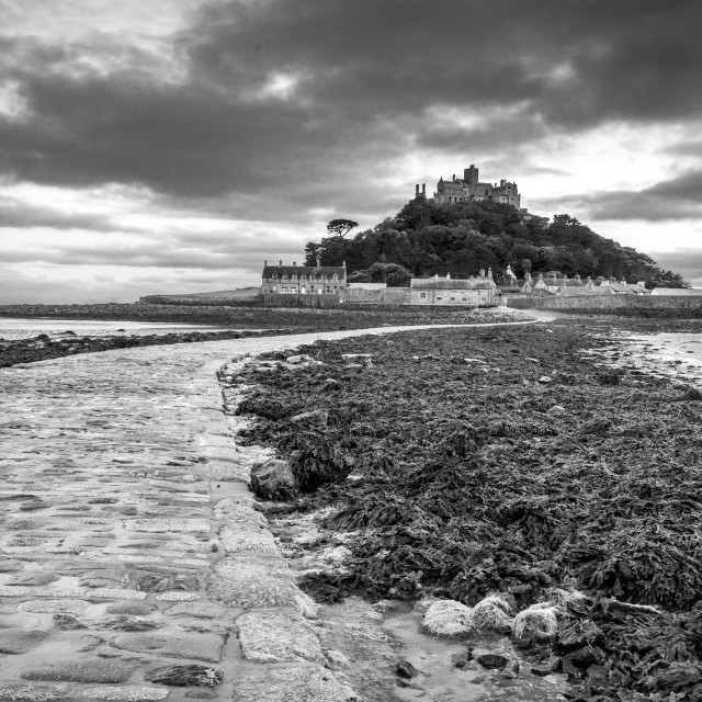 """""""Evening at St. Michaels Mount"""" stock image"""