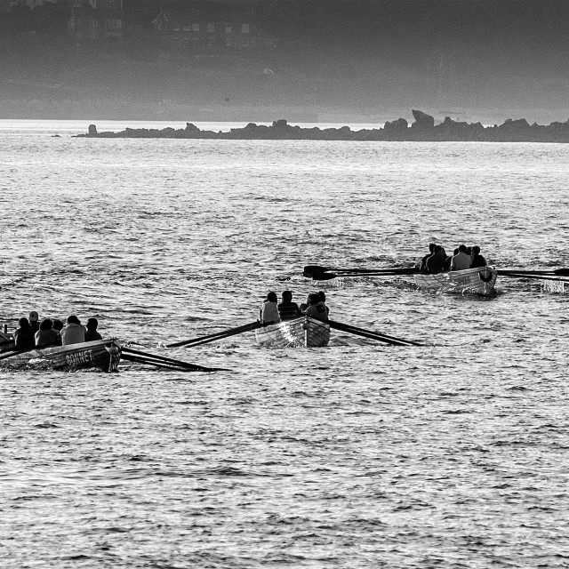 """Gig Racing in the Scilly Isles"" stock image"